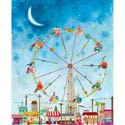 Ferris Wheel Stretched Art, Kids Wall Art | Neutral Wall Decor | Kids Art Work | ABaby.com