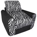 Black Zebra Chair Sleeper, Kids Upholstered Chairs | Personalized Toddler Couch | Rocker | Recliner