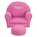 Kids Personalized Fabric Upholstered Rocker, Kids Rocking Chairs | Kids Rocker | Kids Chairs | ABaby.com