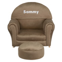 Kids Personalized Microfiber Rocker, Kids Rocking Chairs | Kids Rocker | Kids Chairs | ABaby.com