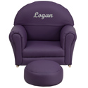 Kids Personalized Vinyl Upholstered Rocker, Kids Rocking Chairs | Kids Rocker | Kids Chairs | ABaby.com