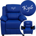 Personalized Kids Recliner with Storage Arms, Kids Chairs | Personalized Kids Chairs | Comfy | ABaby.com