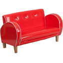 Kids Retro Loveseat, Kids Upholstered Chairs | Personalized | Couch | Armchair