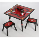 Firefighter Table and 2 Stool Set, Children Table And Chair Sets | Toddler Table And Chairs | ABaby.com
