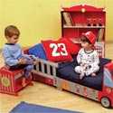 Firetruck Toddler Furniture Set, Toddler Furniture Sets | Toddler Bedroom Sets | ABaby.com
