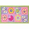 Flowers and Butterflies Rug, Novelty Rugs | Cheap Personalized Area Rugs | ABaby.com
