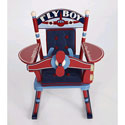 Fly Boy Airplane Child Rocker, Airplane Themed Furniture | Baby Furniture | ABaby.com