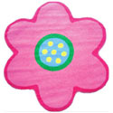 Flower Shaped Rug, Kids Playroom Area Rugs | Bedroom Rugs | Carpet | aBaby.com