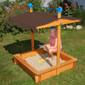 Harris Sandbox with Adjustable Cover, Kids Outdoor Furniture | Outdoor Table And Chair Sets | ABaby.com