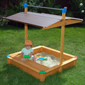 Deluxe Sandbox with Toy Box/Bench, Kids Outdoor Furniture | Outdoor Table And Chair Sets | ABaby.com