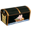 Pirate Treasure Chest, Kids Storage Bins | Personalized Kids Toy Boxes | ABaby.com