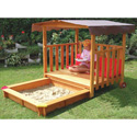 2-in-1 Playhouse 'n Sandbox, Kids Outdoor Furniture | Outdoor Table And Chair Sets | ABaby.com