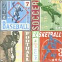 Sports Game Tickets Canvas Reproduction, Sports Themed Nursery | Boys Sports Bedding | ABaby.com