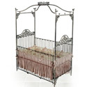 Garden Jewel Iron Baby Crib, Custom Cribs | Rustic Cribs | Unique Cribs | ABaby.com