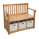 Mission Storage Bench and Bins, Kids Shelves | Baby Wall Shelves | Nursery Storage | ABaby.com
