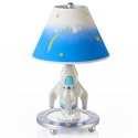 Rocket Ship Table Lamp, Moon and Stars Themed Nursery | Cribs | Baby Bedding | Wall Decals