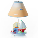 Sailing Table Lamp, Nautical Nursery D�cor | Nautical Themes | Rugs | Lamps | aBaby.com