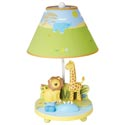 Savanna Smiles Table Lamp, African Safari Themed Nursery | African Safari Bedding | ABaby.com