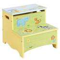 Savanna Smiles Storage Step-Up, African Safari Themed Nursery | African Safari Bedding | ABaby.com