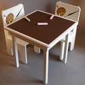 Artsy Chalkboard Table and Chair Set, Personalized Table and Chair Sets | Gifts for Toddlers | ABaby.com
