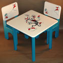 The Cat in the Hat Table and Chair Set, Children Table And Chair Sets | Toddler Table And Chairs | ABaby.com