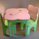 Pink & Green Garden Table and Chair Set, Personalized Table and Chair Sets | Gifts for Toddlers | ABaby.com