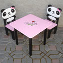 Panda 'n Friends Table and Chair Set, Personalized Table and Chair Sets | Gifts for Toddlers | ABaby.com
