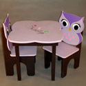 Hooty Owl Table and Chair Set, Personalized Table and Chair Sets | Gifts for Toddlers | ABaby.com