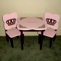 Royal Crown Table and Chair Set, Personalized Table and Chair Sets | Gifts for Toddlers | ABaby.com