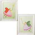 Sara & Lindsey Fairy Artwork, Girls Wall Art | Artwork For Girls Room | ABaby.com