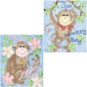 Little Monkey Wall Art, Canvas Artwork | Kids Canvas Wall Art | ABaby.com
