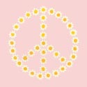 Peace Daisies Artwork, Girls Wall Art | Artwork For Girls Room | ABaby.com