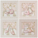 Posh Powder Room Series, Girls Wall Art | Artwork For Girls Room | ABaby.com