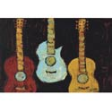 Tres Guitarras Artwork, Kids Wall Art | Neutral Wall Decor | Kids Art Work | ABaby.com