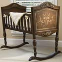 Old World Cradle, Wooden Bassinet | Antique Cradles | ABaby.com