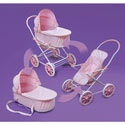 Gingham 3 in 1 Doll Stroller, Baby Doll Furniture Sets | Baby Doll Cradle | ABaby.com