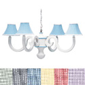 Gingham Scroll Chandelier, Nursery Lighting | Kids Floor Lamps | ABaby.com