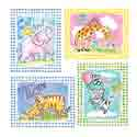 Gingham Animal Wall Art, African Safari Themed Nursery | African Safari Bedding | ABaby.com