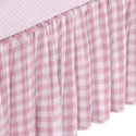 Portable Crib Gingham Dust Ruffles, Portable Crib Skirts | Crib Dust Ruffles | ABaby.com