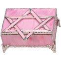 Pink Glass Jewelry Box