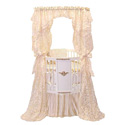 Gold Canopy Round Crib, Antique Baby Crib | Cradle | Designer Convertible Cribs | ABaby.com