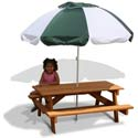 Children's Picnic Table and Umbrella, Kids Outdoor Furniture | Outdoor Table And Chair Sets | ABaby.com