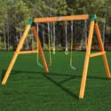 Free Standing Swing Set, Kids Swing Sets | Childrens Outdoor Swing Sets | ABaby.com