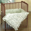Toile Portable Crib Bedding, Portable Mini Crib Bedding Sets For Your Baby