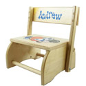 Natural Wood Sports Flip Stool, Sports Themed Nursery | Boys Sports Bedding | ABaby.com