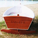 Handcrafted Row Boat Cradle, Wooden Bassinet | Antique Cradles | ABaby.com