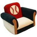 Baseball Deluxe Rocker, Kids Chairs | Personalized Kids Chairs | Comfy | ABaby.com