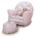 Kid's Floral Chenille Premier Rocking Chair, Kids & Toddler Chairs| Recliner| Personalized Rocking Chairs| aBaby.com