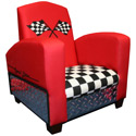 Race Car Chair, Kids Upholstered Chairs | Personalized Upholstered Chairs | ABaby.com