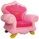 Royal Princess Chair, Kids Upholstered Chairs | Personalized Upholstered Chairs | ABaby.com